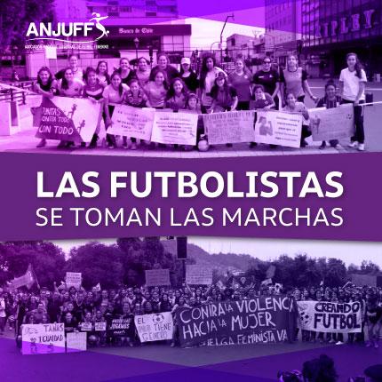 Las Futbolistas se toman las marchas
